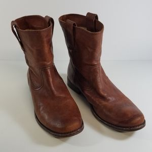 FRYE Anna Shortie Leather Boot Size 7M